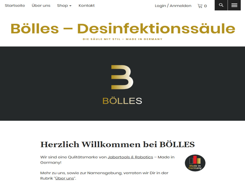 Screenshot Boelles.com